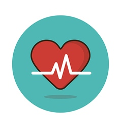 Blood pressure flat icon medical vector