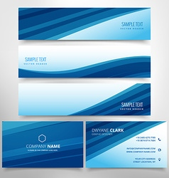 Business stationary collection vector