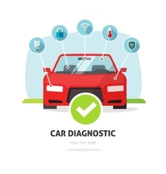 Car diagnostic service concept auto vector