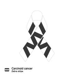 Carcinoid cancer ribbon vector