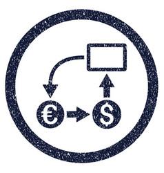Cashflow euro exchange rounded grainy icon vector