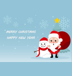 Character cartoon cute christmas day merry chris vector