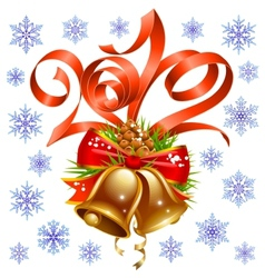 christmas and new year decoration vector image vector image