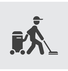 Cleaner icon vector
