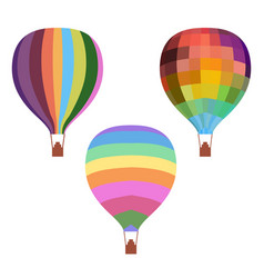 colorful drawing hot air balloons set vector image vector image