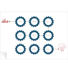 Concept template with gear wheels vector image