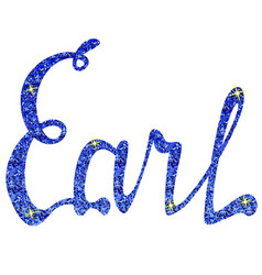 Earl name lettering tinsels vector