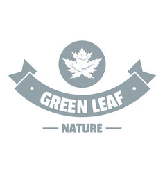 eco nature logo simple gray style vector image vector image