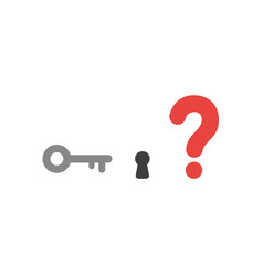 Flat design concept of key and keyhole with vector