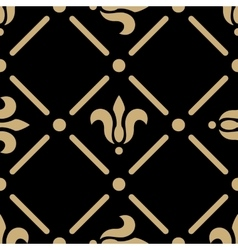 Golden pattern on dark background vector