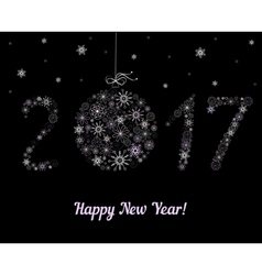 Happy new year 2017 decoration vector