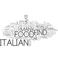italian food text background word cloud concept vector image