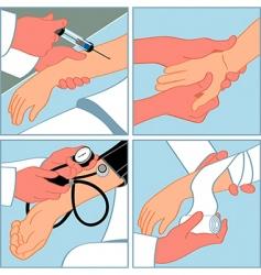 medical procedures vector image vector image