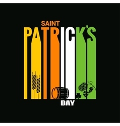 Patrick day design background vector