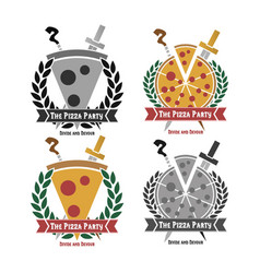 pizza-party vector image