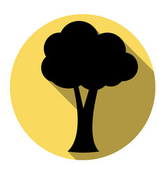 tree sign flat black icon vector image