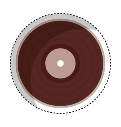 Vinyl audio retro icon vector