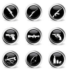 Weapon icon set vector
