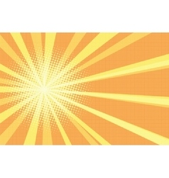 Sunrise pop art retro background vector image