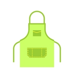 Blank apron isolated vector