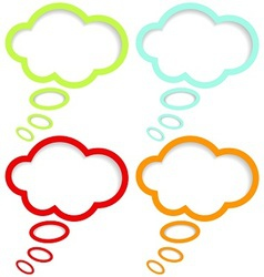 Color cloud speech vector image