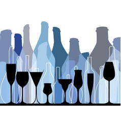 Background bottle blue vector
