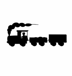Shadow of a train vector