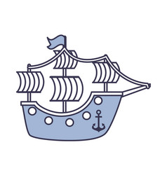 antique sailboat isolated icon vector image