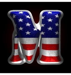 American metal figure m vector