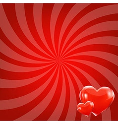Red beams and hearts vector