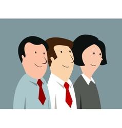 Cartoon business team in office vector image