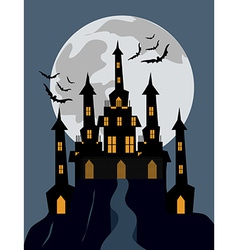 Halloween castle background vector