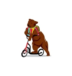 Circus bear on a bicycle vector