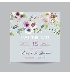 Invitation or greeting card - for wedding vector