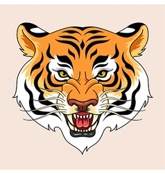 Tiger tattoo green vector