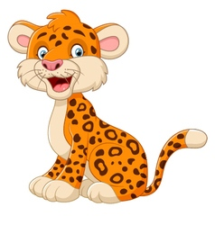 Cute cheetah posing cartoon vector