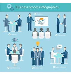 Business process infographics vector image