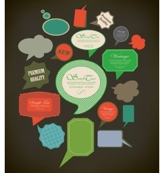 Abstract retro speech bubbles vector