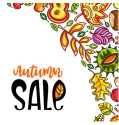 Autumn sale corner 2 vector