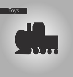Black and white style icon toy train vector