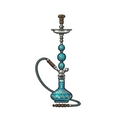 Blue eastern turkish arabic persian glass and vector