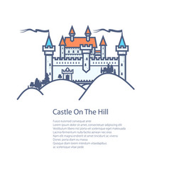 Brochure castle hill flyer design vector