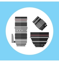Cinema Pro Photo Digital Lens Equipment Icon vector image