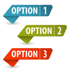 Collect Option Signs vector image