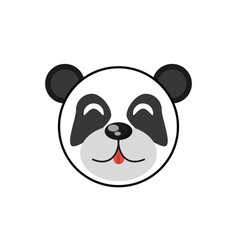 cute face panda animal cheerful vector image vector image