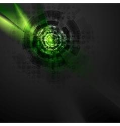 Dark green hi-tech design with grunge texture vector