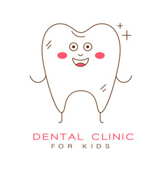 Dental clinic for kids logo symbol vector