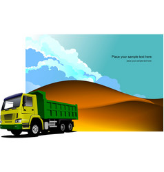 desert landscape with tipper image vector image