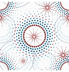 Geometric pattern of circles seamless vector image vector image