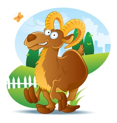 goat cartoon vector image vector image